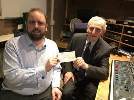 £1,000 donation to Swindon & District Talking Newspapers for the Blind
