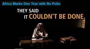 Africa Free of Polio in the wild for 12 months - 11th August 2015