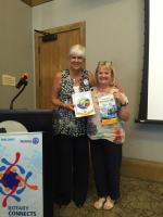 Club member Lesley visits Rotary Club in USA