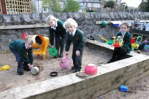 Rotary Club funds V.P. infant school outdoor learning equipment.