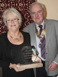 Frome Selwood RC Donate a Frome in Bloom Trophy
