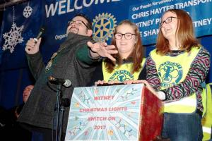 Switching on Witney's Christmas Lights