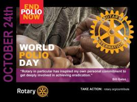 Planting Crocus Corms on World Polio Day