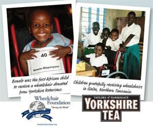 Collect Yorkshire Tea Barcodes for Wheelchairs