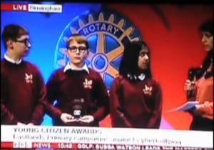Young Citizen award on TV