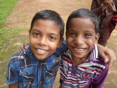 2014 Hope India kindergarten refurbishment - Two of the boys from the school.