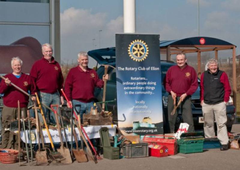 The Rotary Club collect all types of tools and implements and then take them along to the Camphill Schools Workshop in Bieldside where they are refurbished before being sent out across the African continent where they are put to extremely good use.