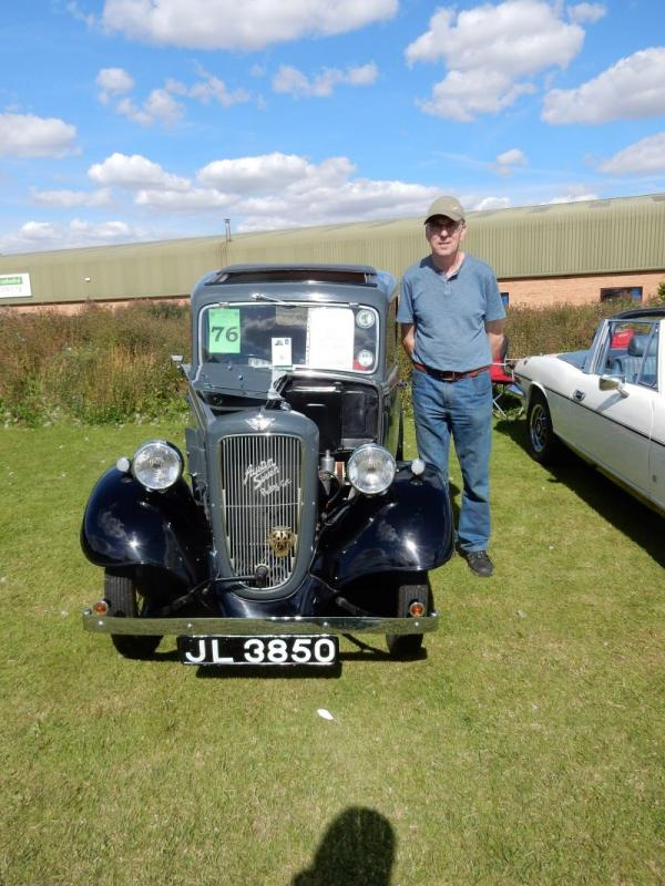 LINCOLN CLASSIC AND VINTAGE VEHICLE RALLY 2017 - Winner of the public vote at the Classic and Vintage Vehicle Rally on August 13th 2017 was Mr Cumpstone with his beautiful Austin Ruby 1937