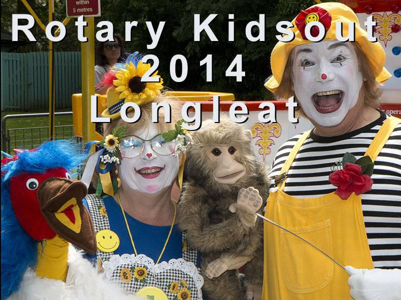 Kids Out 2014 - Possibly the best of the days out at Longleat that we have enjoyed over the past 25 years.800 plus children and over 500 Adults attended from22 Rotary clubs from Marlborough and South Cotswolds to the East and North, and Weston Super Mare, Gillingham and