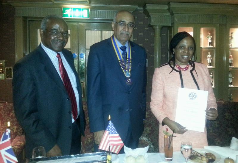 Community Activities - Ms Felicia Munjadi was presented the Rotary Recognition Award as an acknowledgement of her Special Services to Rotary.