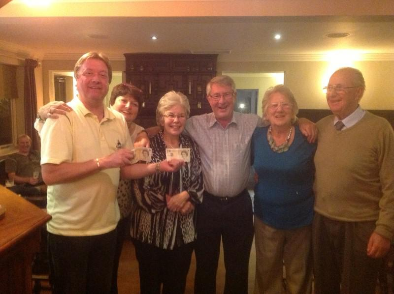 Derbyshire Walking Trip - Team Reed, Johnson and Purdy who were victorious in the quiz