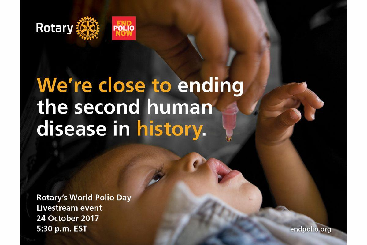 End Polio day is 24th October 2017 world wide