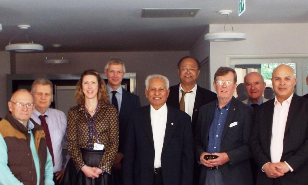 Members of the Rotary Club visiting Woking & Sam Beare Hospice