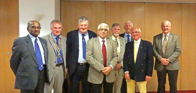Saumen Ray with Monifieth Rotary members