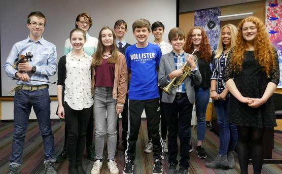 The competitors in the 2017 Rotary Young Musicians contest...Pic Trevor Earthy