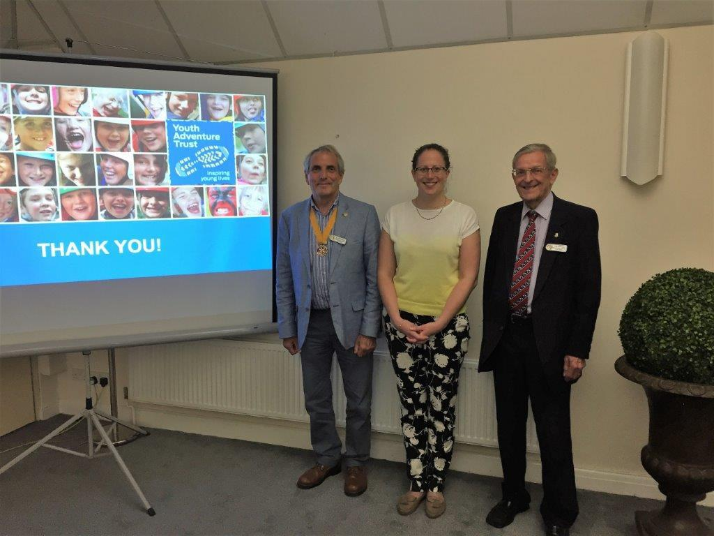 President Elect Richard with Natalie and Fellow Rotarian Tom