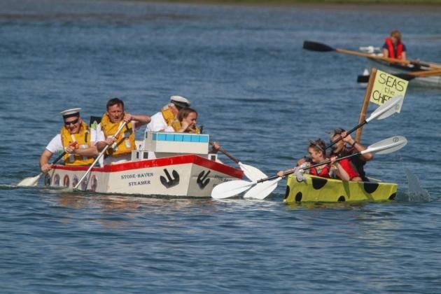 Battle of the Oars, Bideford Cardboard Boat Regatta