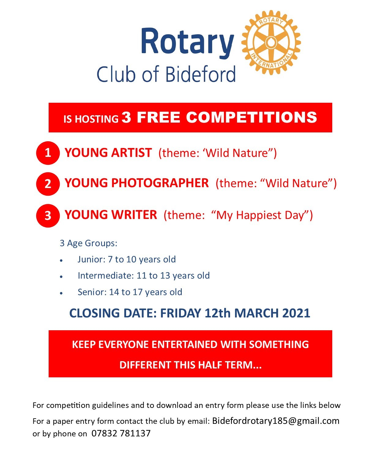 Bideford Rotary Youth Competitions
