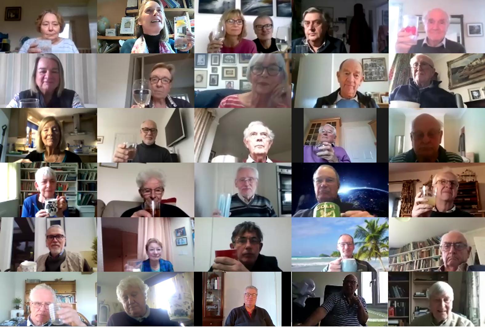 Bideford Rotary Club Members Zooming 2021