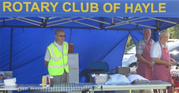 Hayle Rotary BBQ at the Car Show 2014