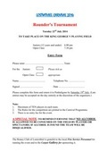 2015 Lostwithiel Carnival Rounders Entry Form