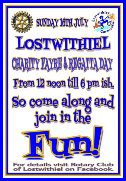 16 July 2017 - Lostwithiel Carnival Charity Fayre and Regatta Day
