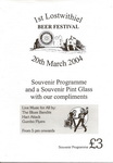 1st Lostwithiel Charity Beer Festival Saturday 20th March 2004 (one of Cornwall's best little beer festivals)
