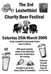 3rd Lostwithiel Charity Beer Festival Saturday 25th March 2006 (one of Cornwall's best little beer festivals)