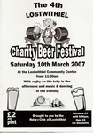 4th Lostwithiel Charity Beer Festival Saturday 10th March 2007 (one of Cornwall's best little beer festivals)