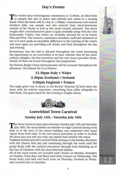 2015 Beer Festival Programme Page 05