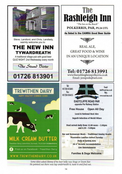 2015 Beer Festival Programme Page 14