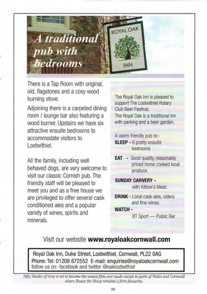 2015 Beer Festival Programme Page 25
