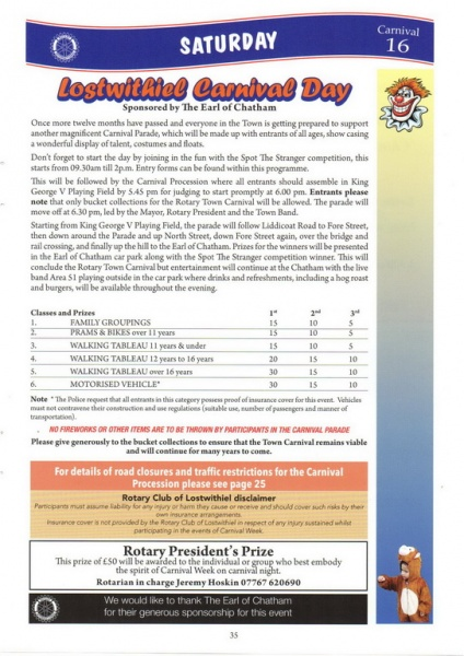 2016 Carnival Programme Page 35