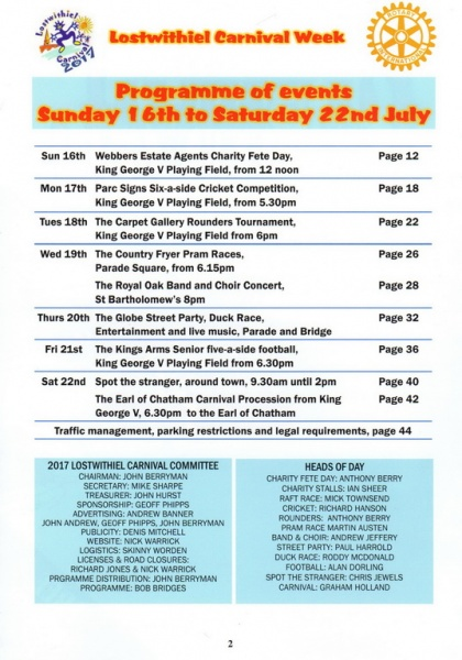 Lostwithiel Carnival Programme Page 02