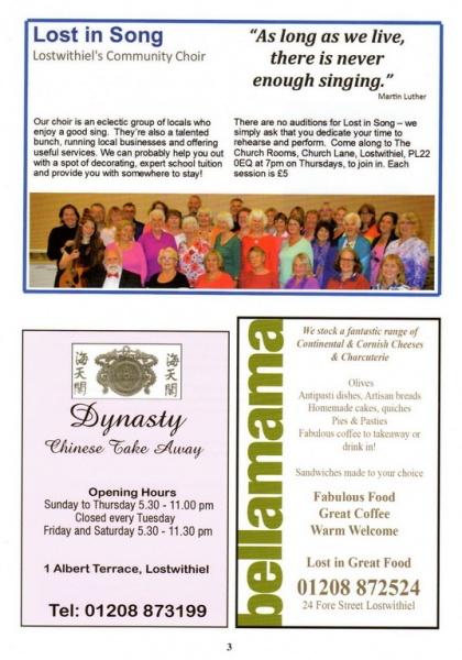 Lostwithiel Carnival Programme Page 03