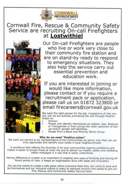 Lostwithiel Carnival Programme Page 14
