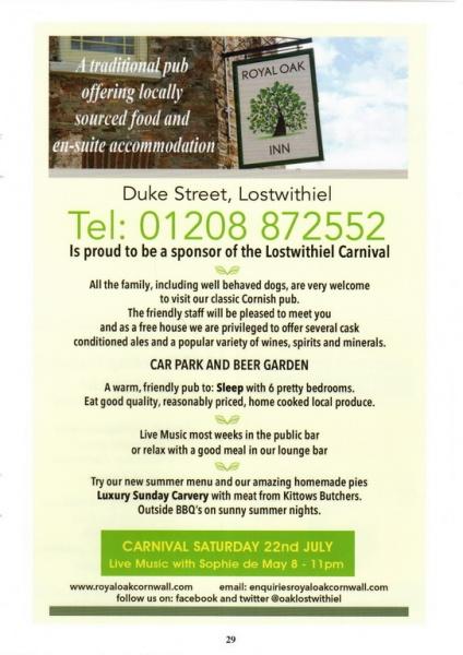 Lostwithiel Carnival Programme Page 29