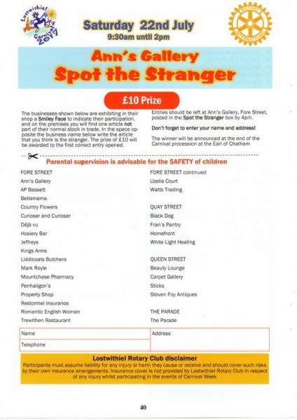 Lostwithiel Carnival Programme Page 40
