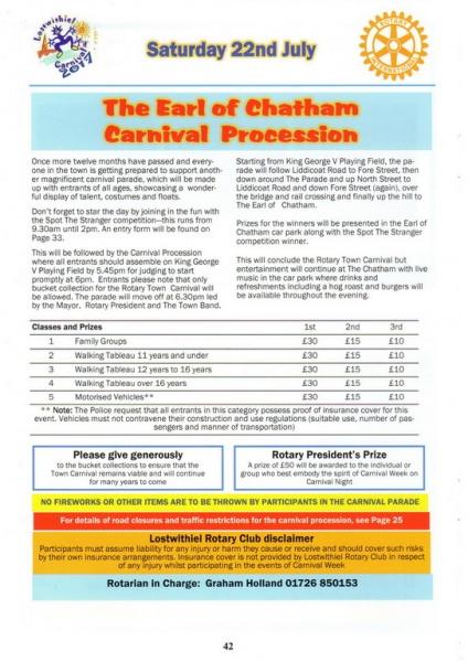 Lostwithiel Carnival Programme Page 42