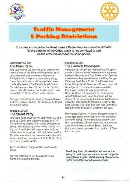 Lostwithiel Carnival Programme Page 44