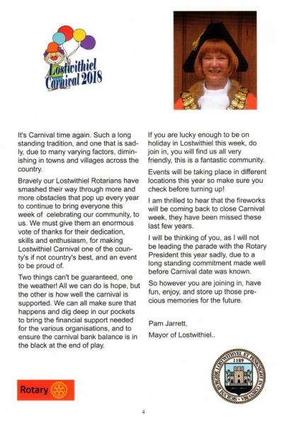 2018 Carnival Programme Page 04