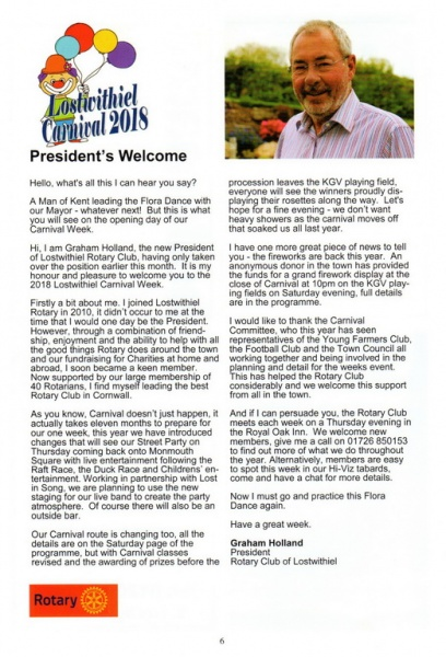 2018 Carnival Programme Page 06