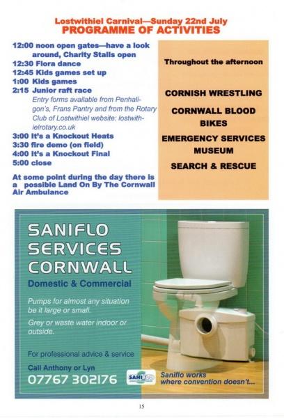2018 Carnival Programme Page 15