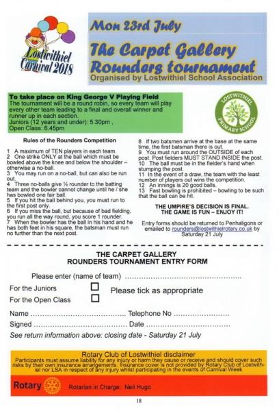 2018 Carnival Programme Page 18