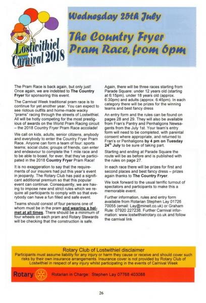 2018 Carnival Programme Page 26
