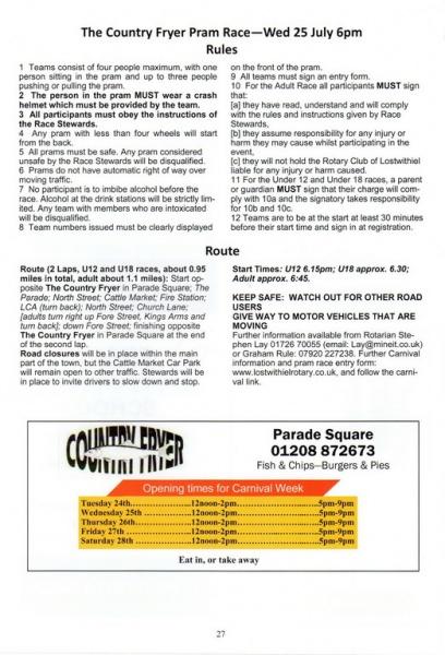 2018 Carnival Programme Page 27