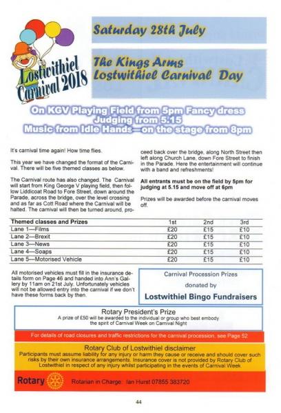 2018 Carnival Programme Page 44
