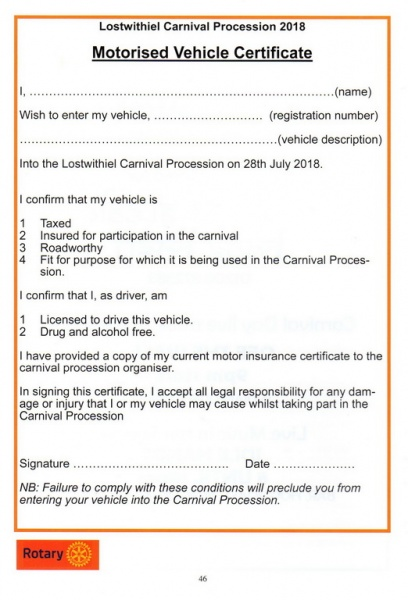 2018 Carnival Programme Page 46
