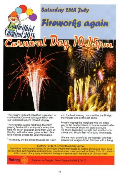 2018 Carnival Programme Page 48