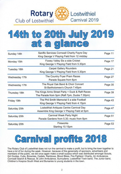 2019 Carnival Programme Page 02